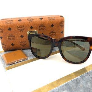 NWT MCM 55mm Square Sunglasses in Havana
